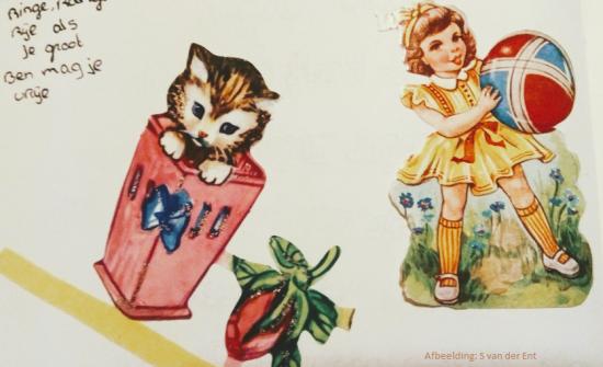 Poëziealbum plaatjes dier en kind