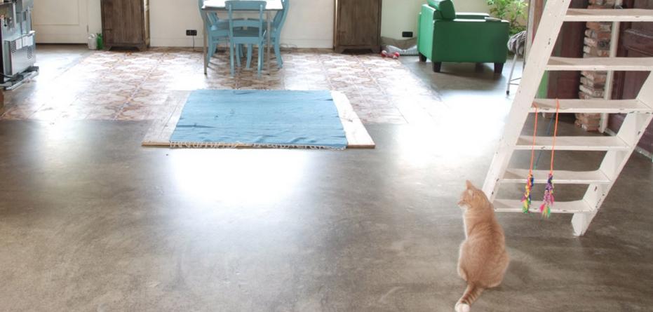 betonnen vloer in een woning