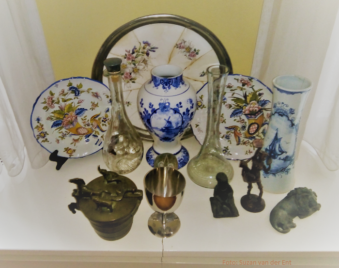 Collectie antiek Delfs aardewerk
