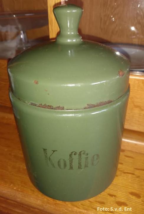 Koffiebewaarbus, begin 1900