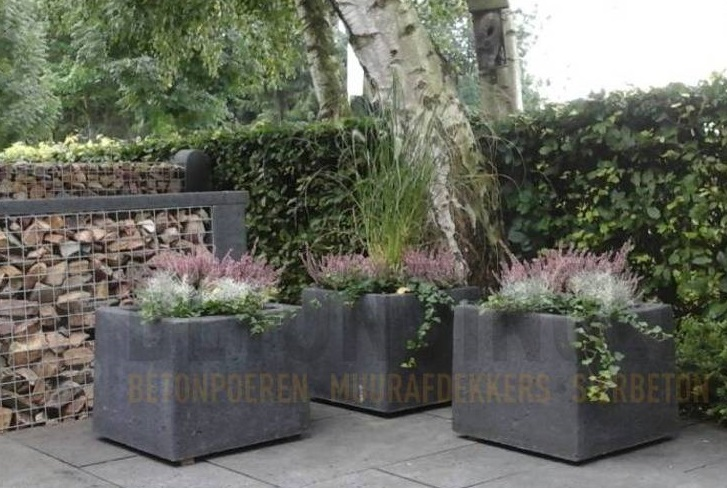 Prachtige betonnen plantenbakken