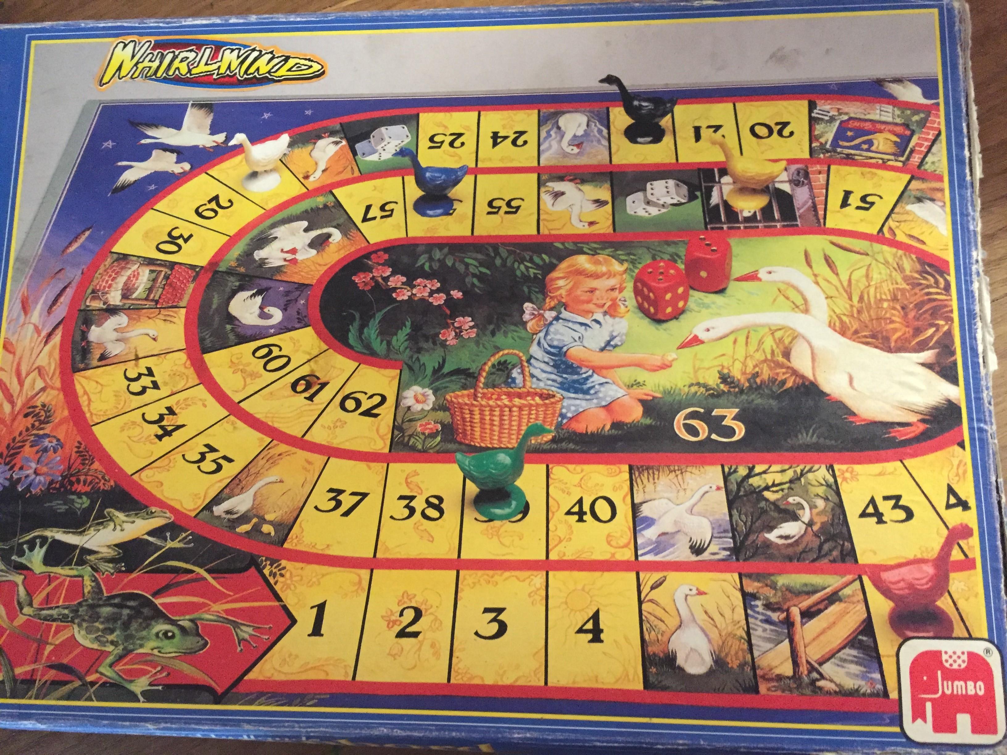 Ganzenbord, spel afkomstig uit begin jaren 80