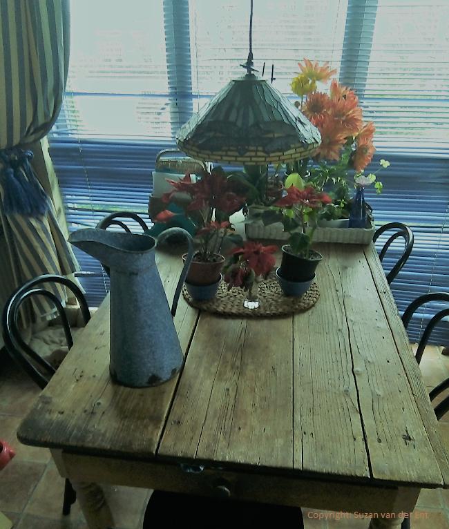 Antieke boeren keukentafel