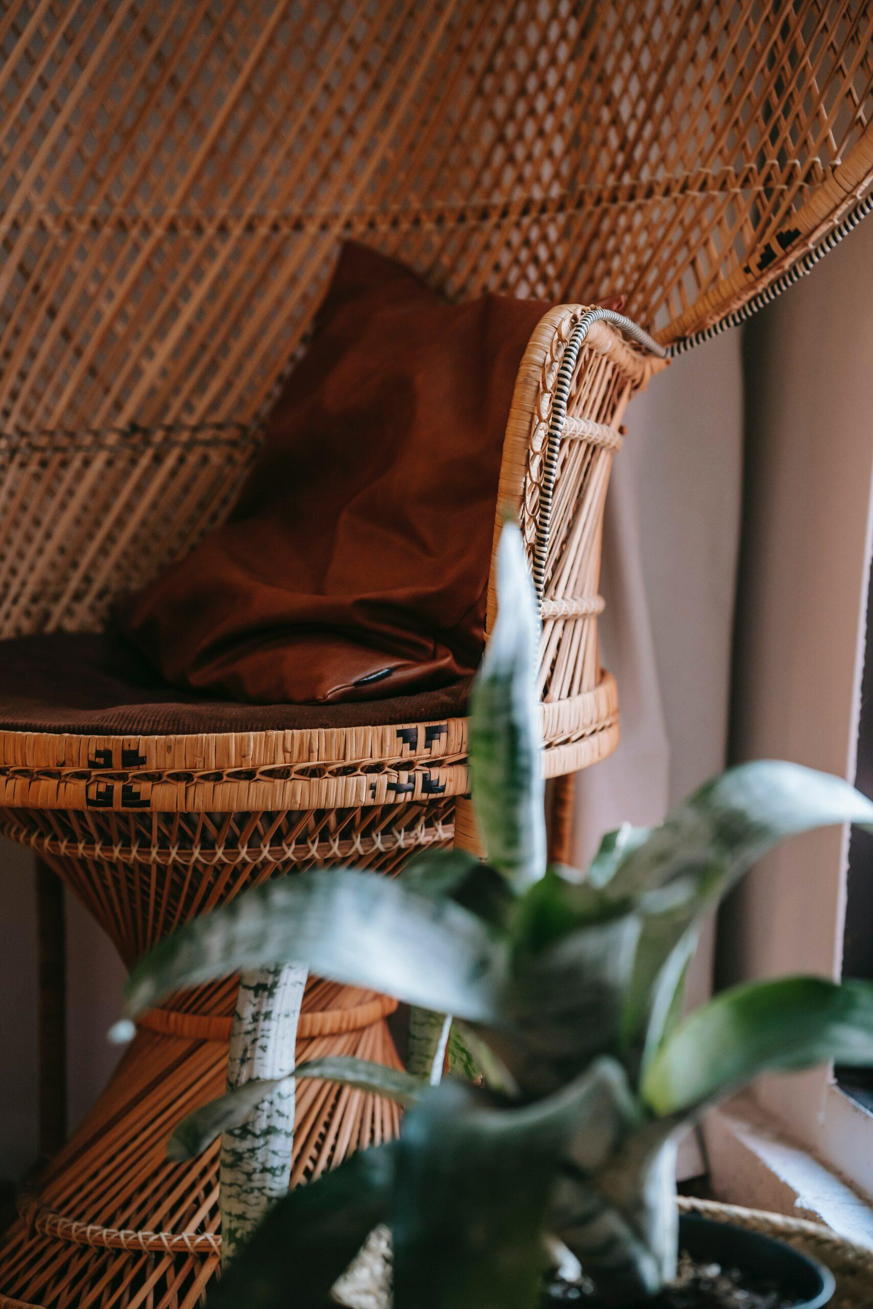 Vlechtmateriaal voor stoelen. Foto: pexels
