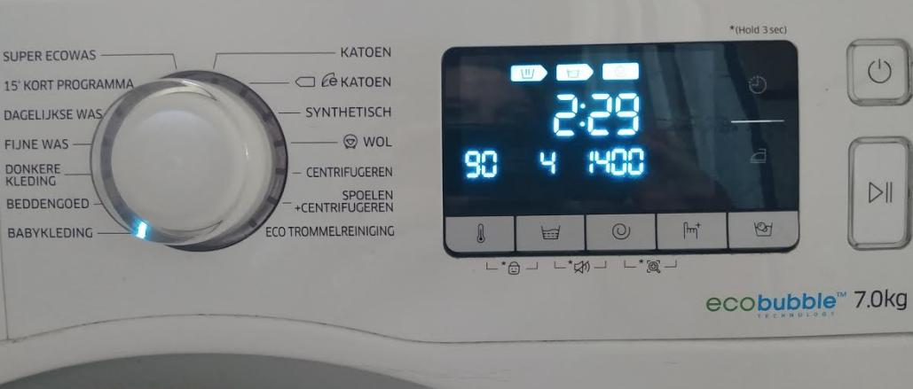 Moderne wasmachine programma's. Foto; S.v.d. Ent